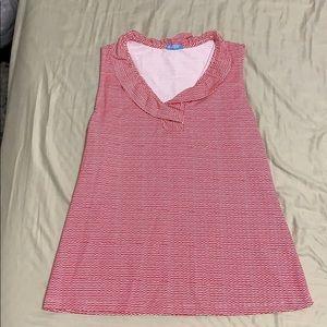 J. McLaughlin Pink Striped Top